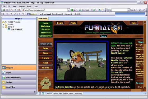 Скриншот программы webzip