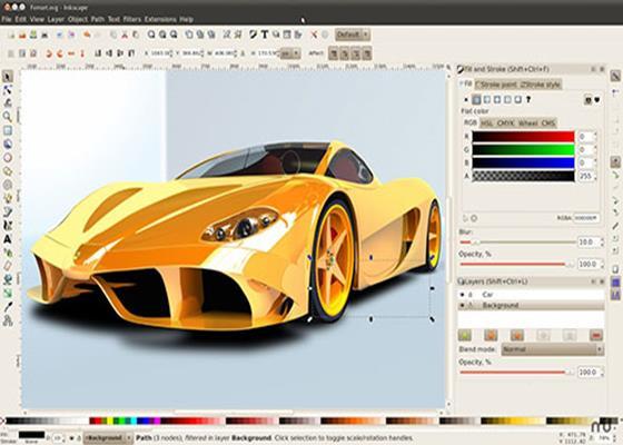 Скриншот программы inkscape
