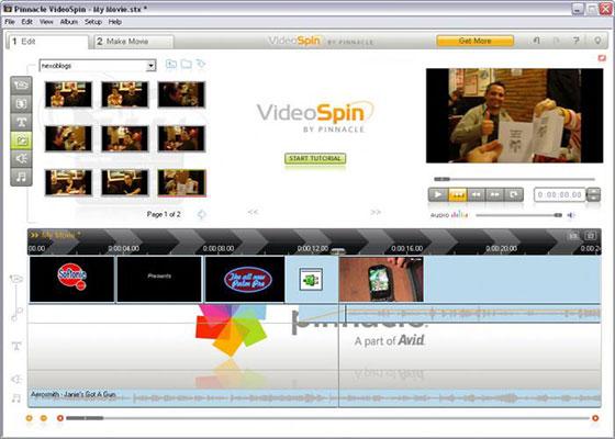 Скриншот программы pinnacle videospin