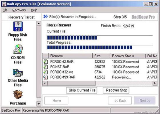 Скриншот программы badcopy pro