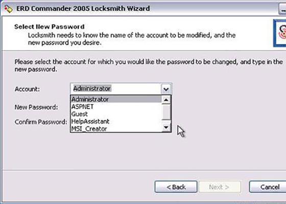 Скриншот программы erd commander