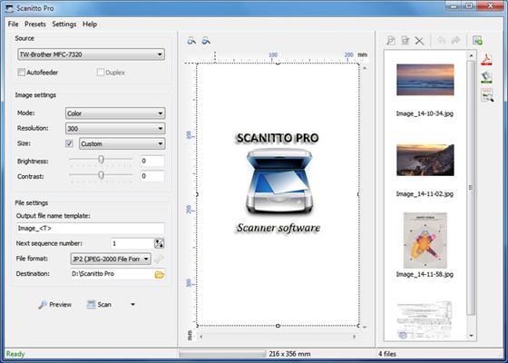 Скриншот программы scanitto pro