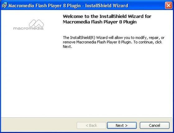 Скриншот программы macromedia flash player