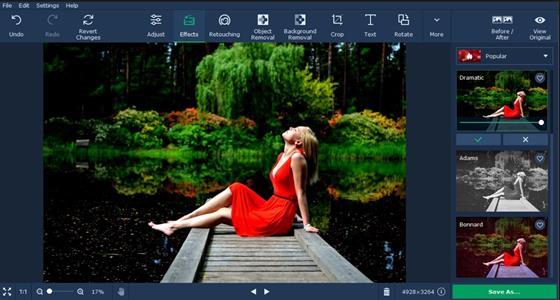 Скриншот программы movavi photo editor
