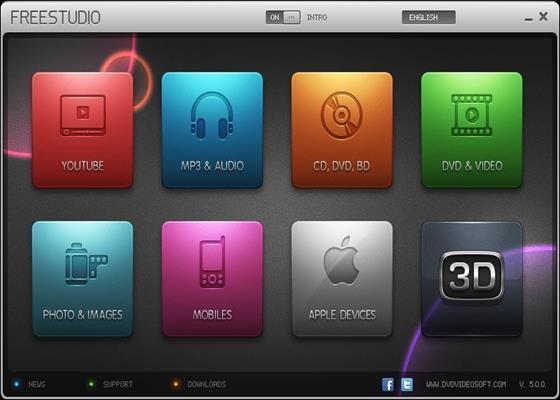 Скриншот программы free studio
