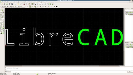Скриншот программы librecad