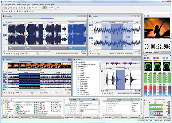 Скриншот программы sony sound forge