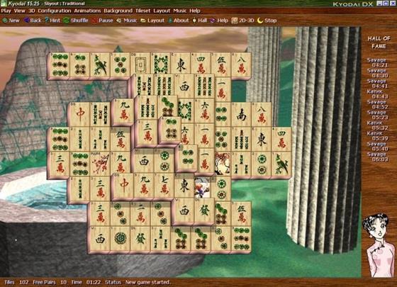 Скриншот программы kyodai mahjongg