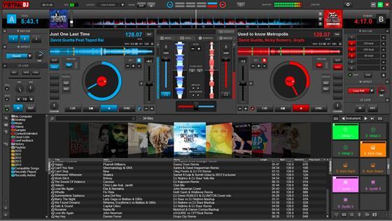Скриншот программы virtual dj pro