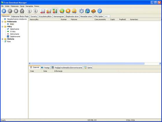 Скриншот программы free download manager