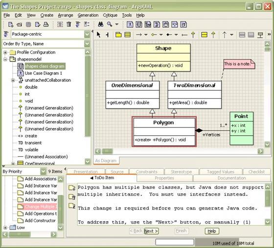 Скриншот программы argouml