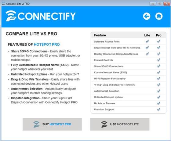 Скриншот программы connectify beta