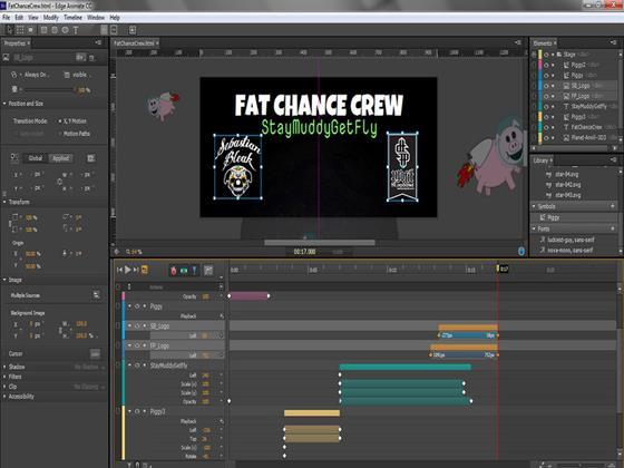Скриншот программы adobe edge animate cc