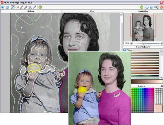 Скриншот программы akvis coloriage