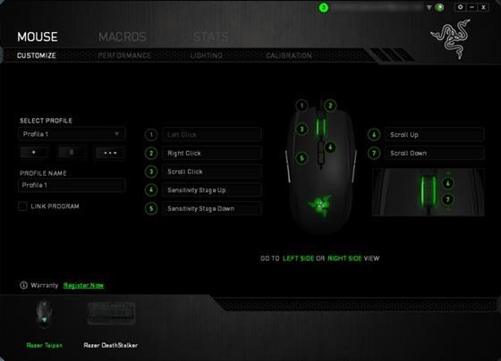 Скриншот программы razer synapse