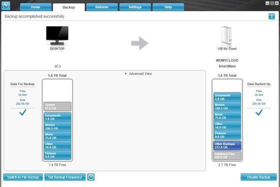 Скриншот программы wd smartware