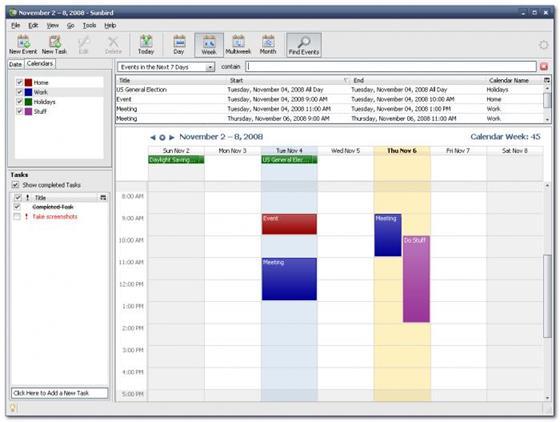 Скриншот программы mozilla sunbird