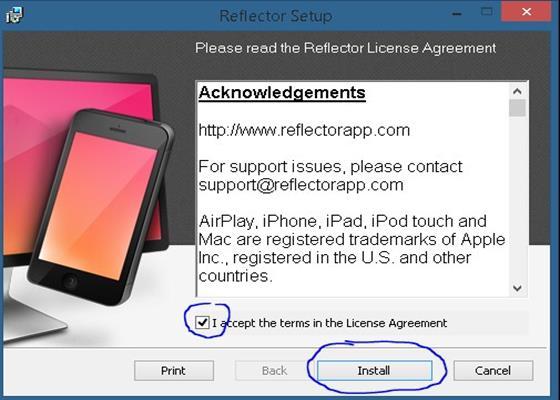 Скриншот программы reflector