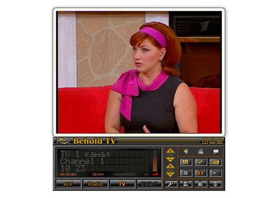 Скриншот программы behold tv