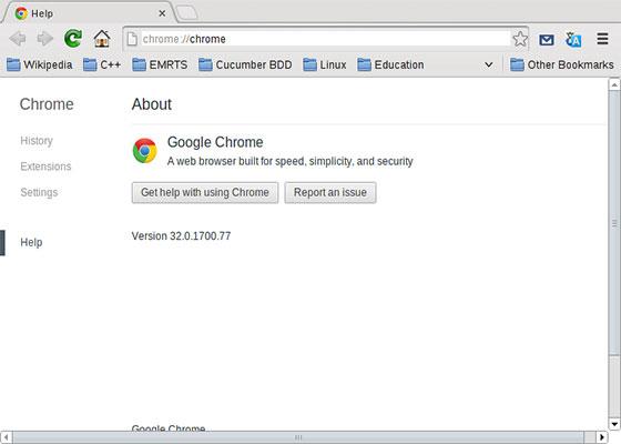 Скриншот программы google chrome 32