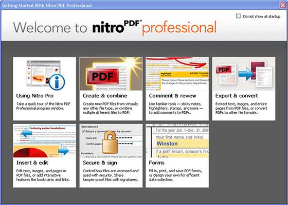Скриншот программы nitro pdf professional