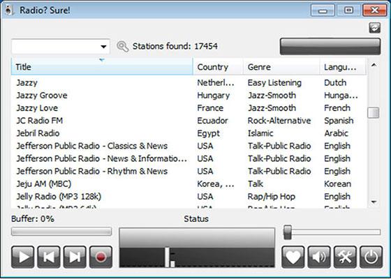 Скриншот программы radiosure
