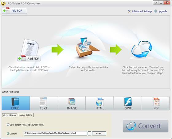 Скриншот программы free pdf to jpg