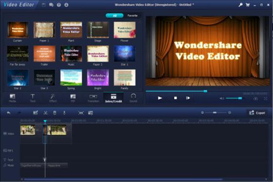 Скриншот программы wondershare video editor
