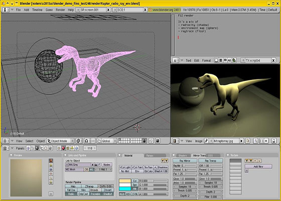 Скриншот программы blender 3d