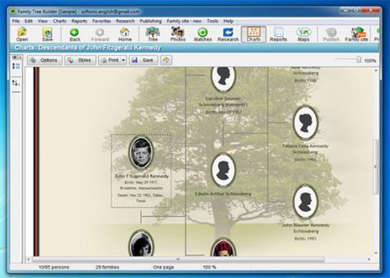 Ancestral Quest family tree softwaregenealogy software
