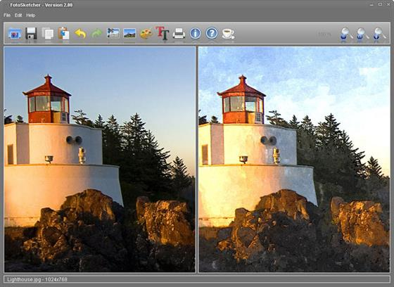 Скриншот программы fotosketcher