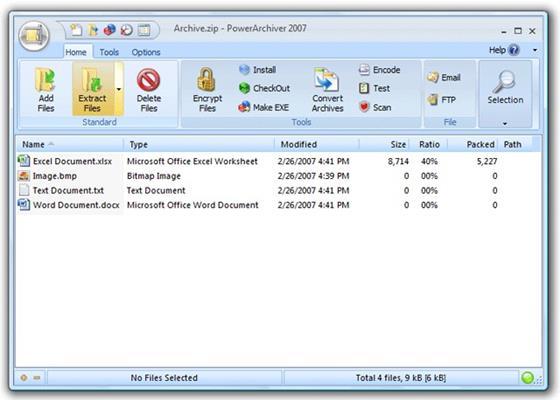 Скриншот программы powerarchiver