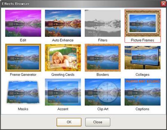 Скриншот программы photo art studio