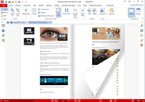 Скриншот программы soda pdf