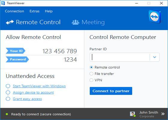 Скриншот программы teamviewer