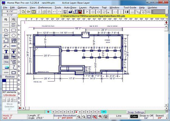 Скриншот программы home plan pro