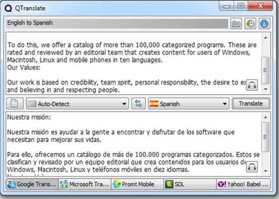 Скриншот программы qtranslate