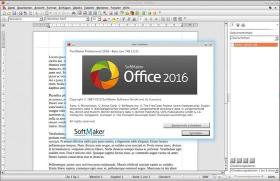 Скриншот программы softmaker office
