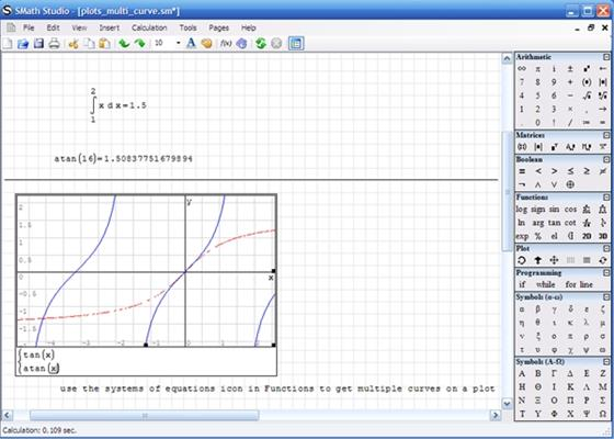 Скриншот программы smath studio