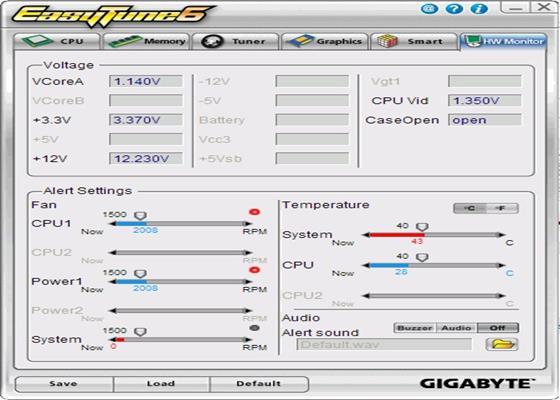 Скриншот программы easytune