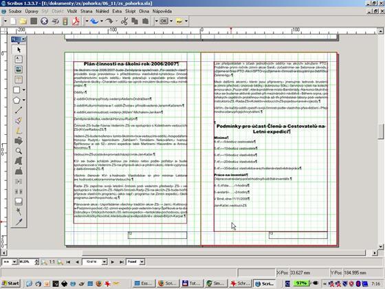 Скриншот программы scribus
