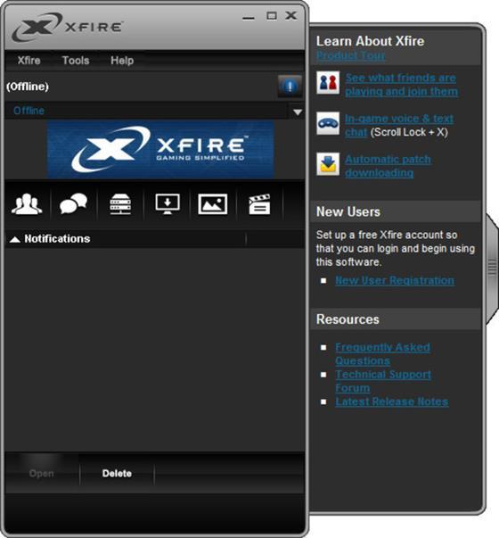 Скриншот программы xfire