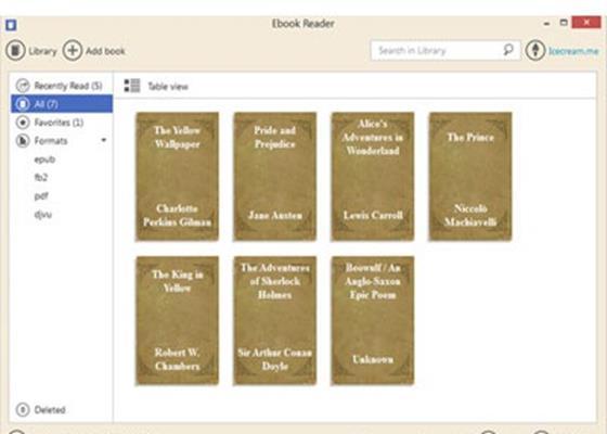 Скриншот программы icecream ebook reader для windows 10