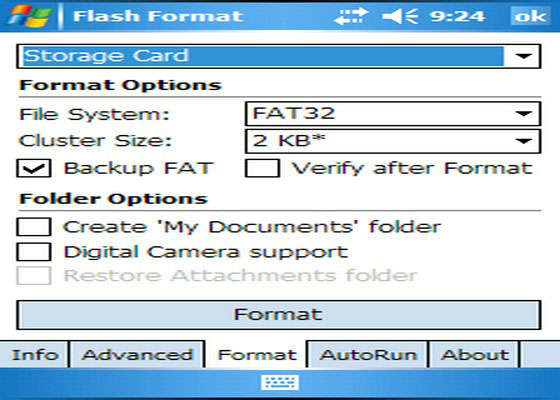 Скриншот программы flash format
