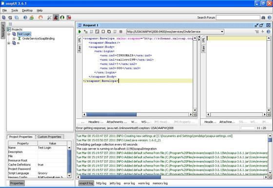 Скриншот программы soapui