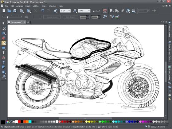 Скриншот программы xara designer pro