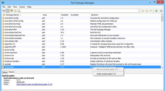 Скриншот программы activeperl