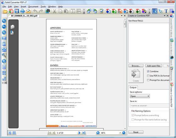 Скриншот программы solid converter pdf