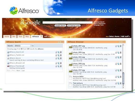 Скриншот программы alfresco