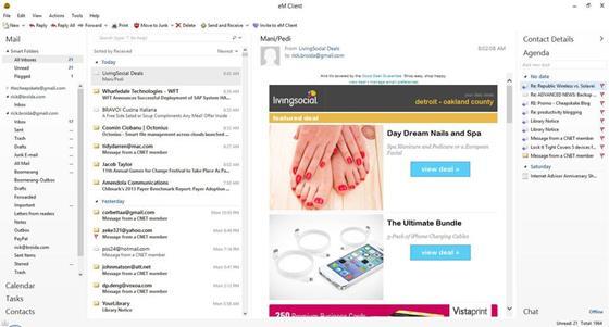 Скриншот программы em client
